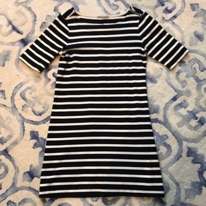 Nautical striped spring/summer knit dress